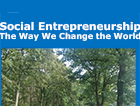 Social Entrepreneurship and the Way We Change the World